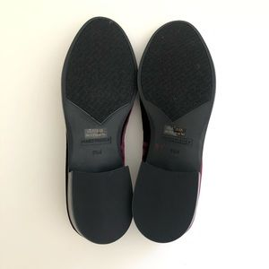 Marc Fisher Shoes - MARC FISHER TRAYCEE BURGANDY VELVET LOAFER SZ 8.5